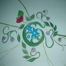 Decoratie muurschildering